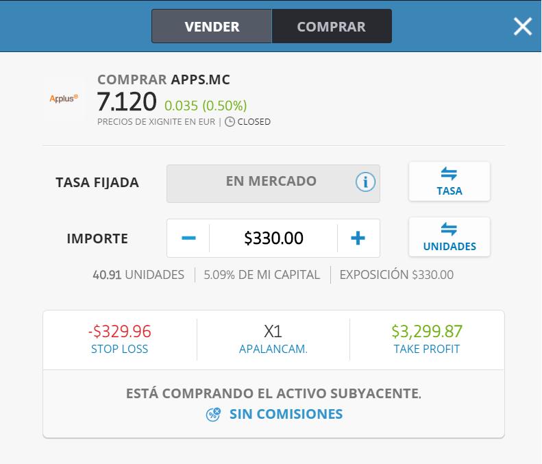 comprar acciones applus services